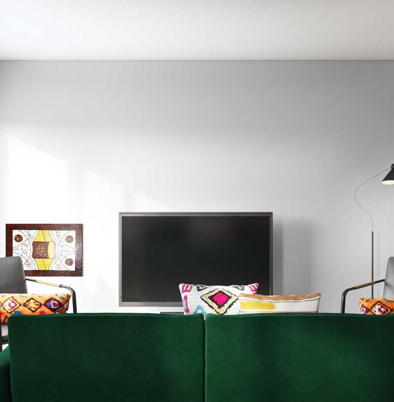 Eclectic, Bohemian, Midcentury Modern Living Room Design by Havenly Interior Designer Natalie