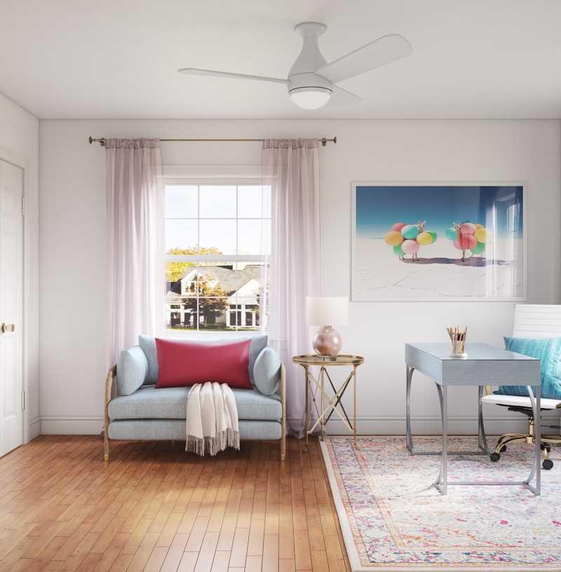 Modern, Coastal Office Design by Havenly Interior Designer Arissa
