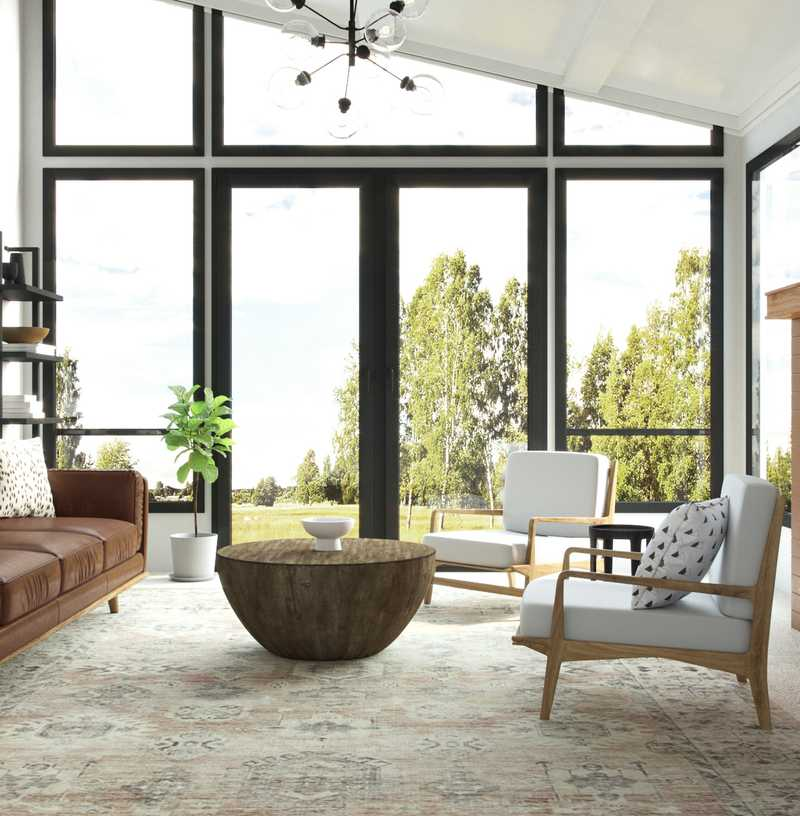 Classic, Rustic, Transitional Living Room Design by Havenly Interior Designer Erin