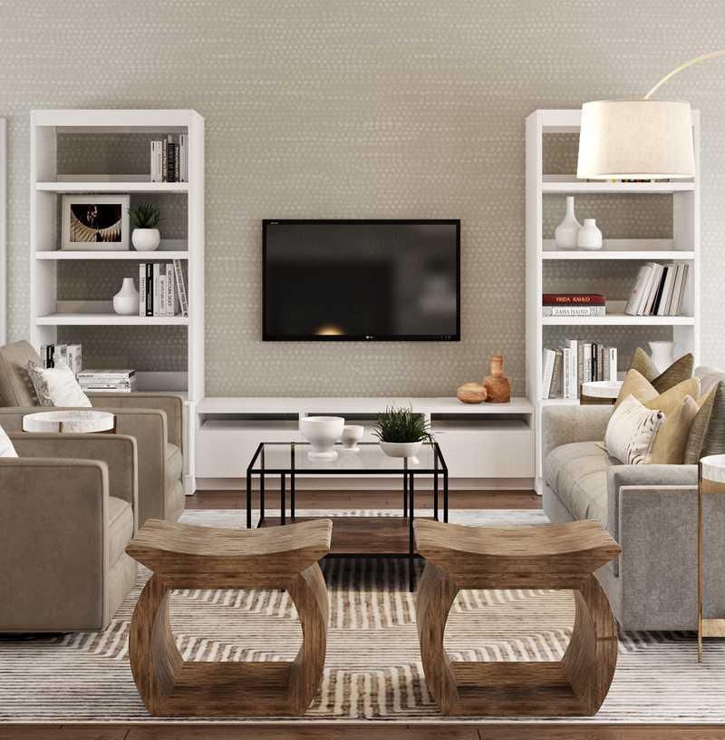 Modern, Eclectic, Bohemian Living Room Design by Havenly Interior Designer McKenzie