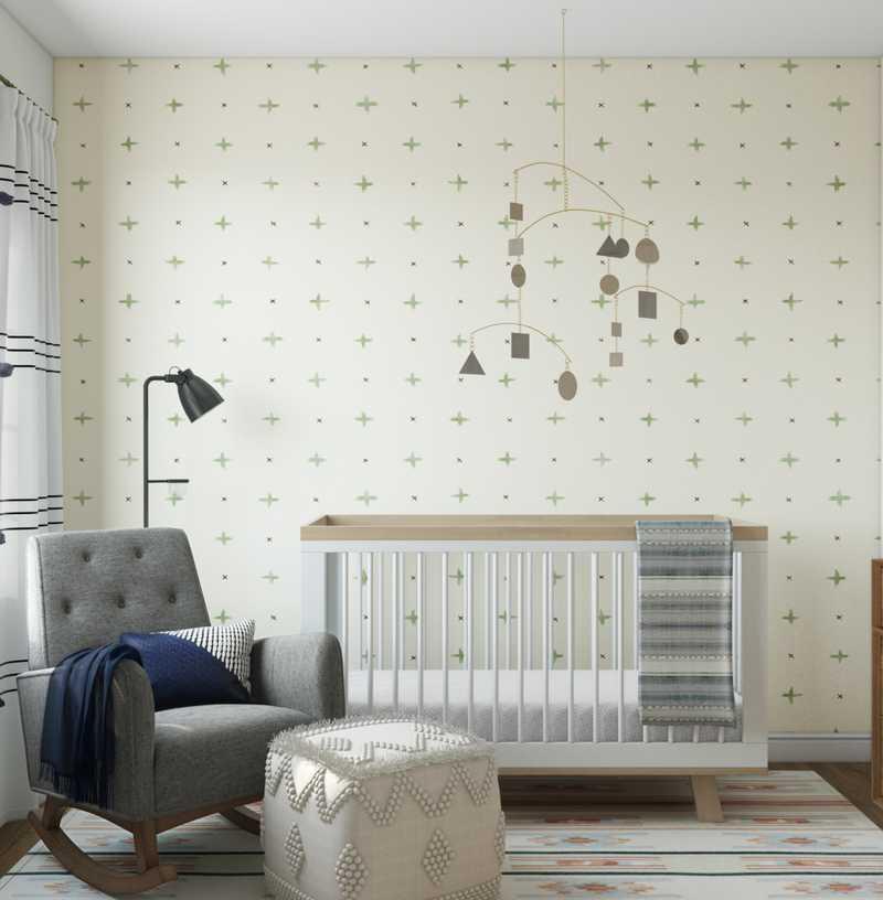 Modern, Bohemian, Midcentury Modern Nursery Design by Havenly Interior Designer Natalie