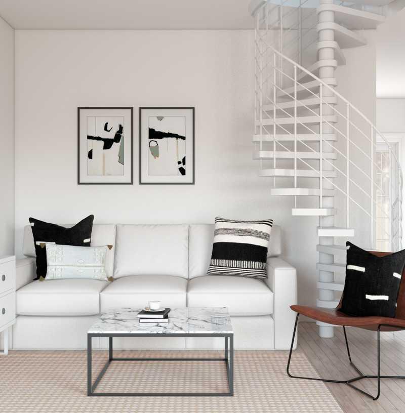 Bohemian, Minimal, Scandinavian Living Room Design by Havenly Interior Designer Keri