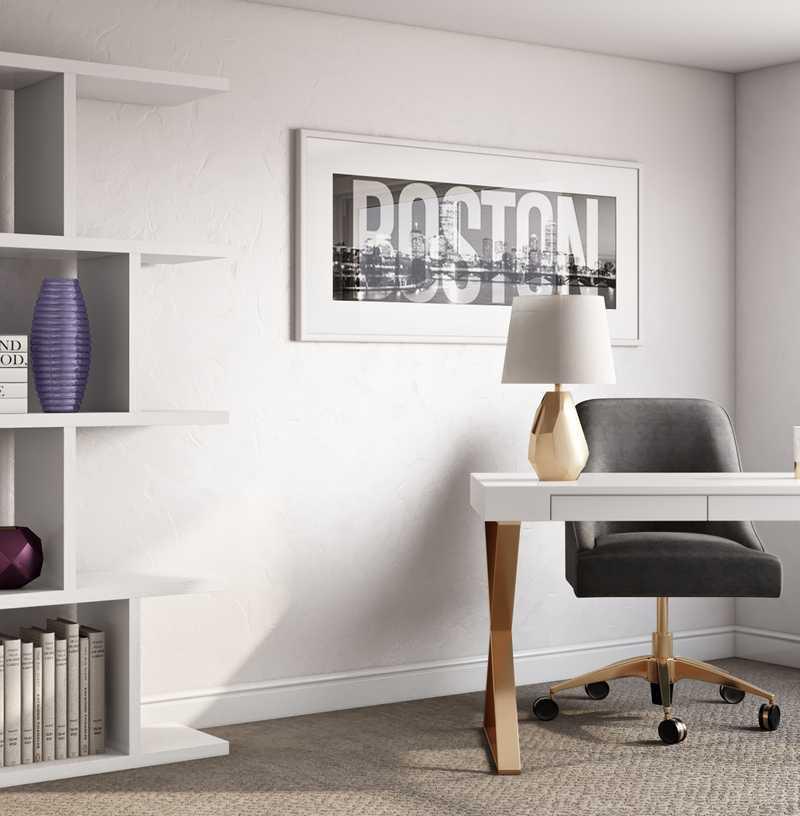 Glam Office Design by Havenly Interior Designer Jennifer