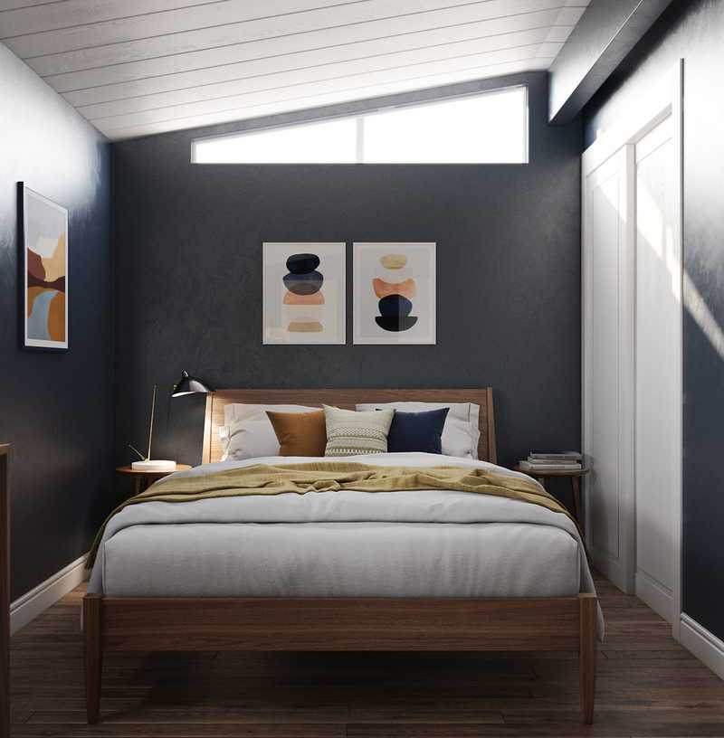 Contemporary, Midcentury Modern Bedroom Design by Havenly Interior Designer Isabelle