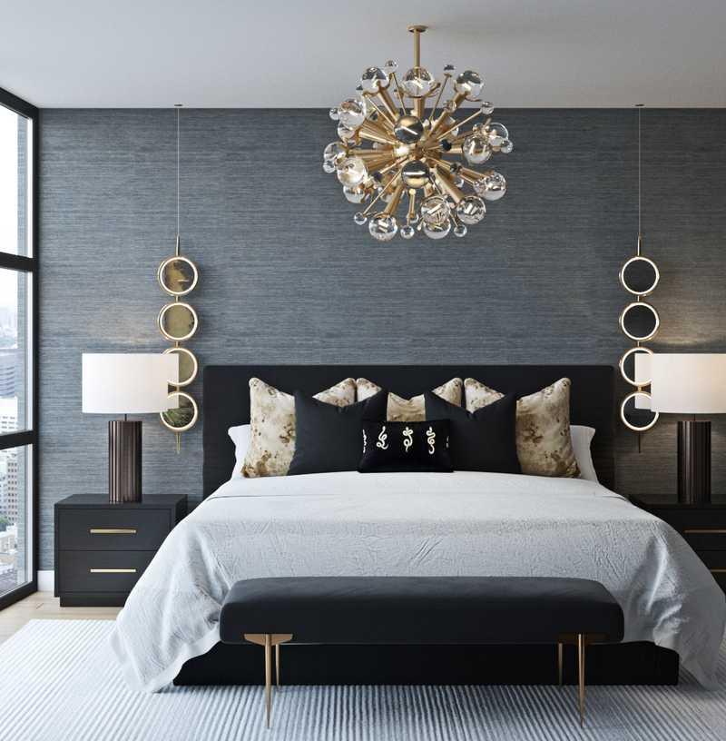 Modern, Glam Bedroom Design by Havenly Interior Designer Levi
