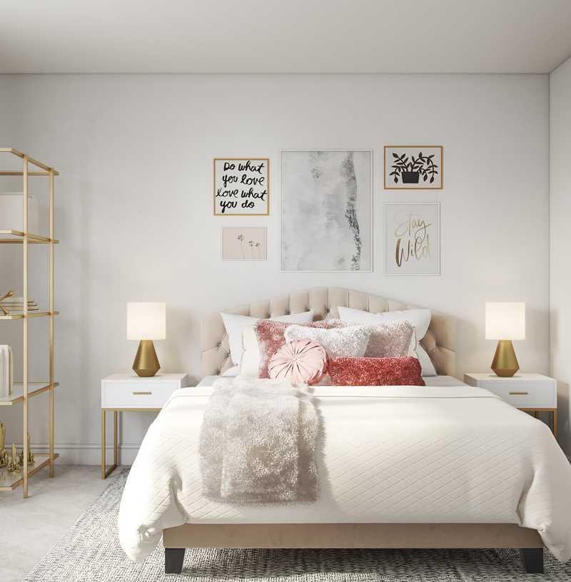 Contemporary, Modern, Glam Bedroom Design by Havenly Interior Designer Megan