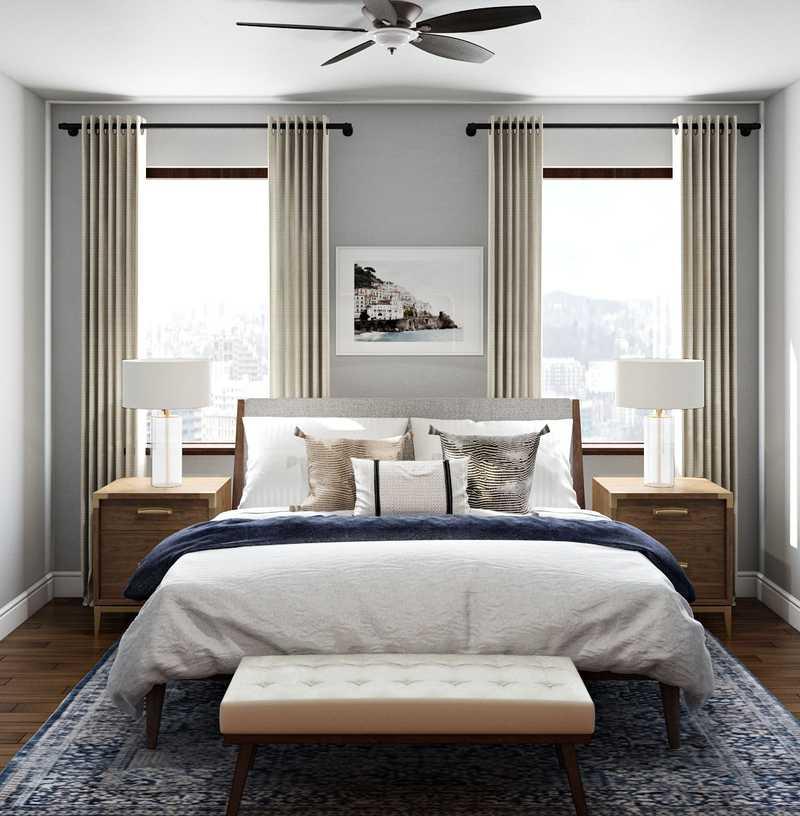 Midcentury Modern, Scandinavian Bedroom Design by Havenly Interior Designer Lydia