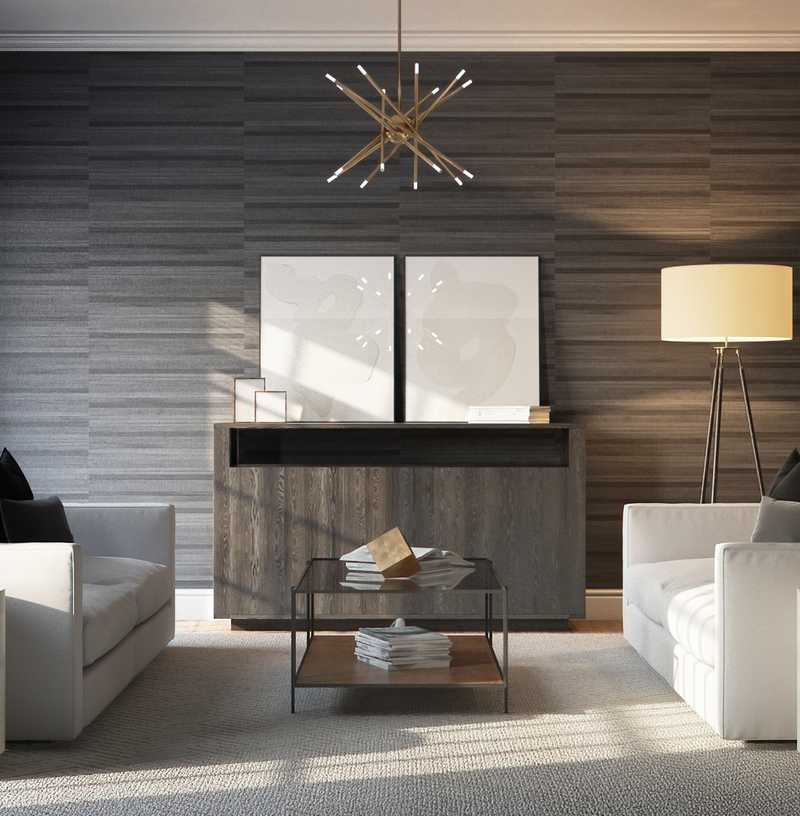 Contemporary Living Room Design by Havenly Interior Designer Libby