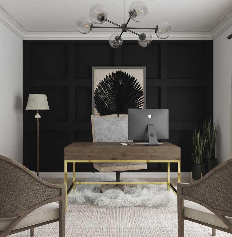 Modern, Rustic, Scandinavian Office Design by Havenly Interior Designer Danielle