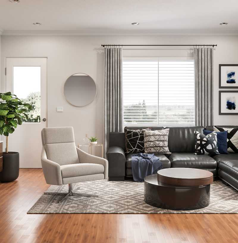 Modern, Midcentury Modern, Scandinavian Living Room Design by Havenly Interior Designer Natalie
