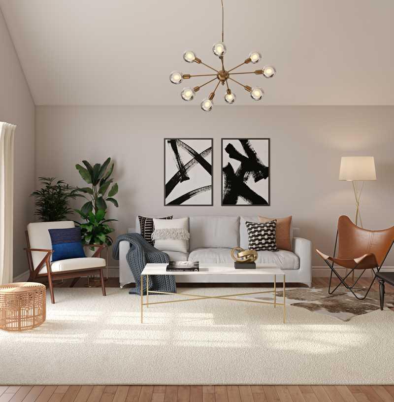 Modern, Bohemian, Glam Living Room Design by Havenly Interior Designer Kheirieh