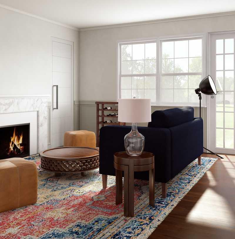 Modern, Midcentury Modern Living Room Design by Havenly Interior Designer Sydney