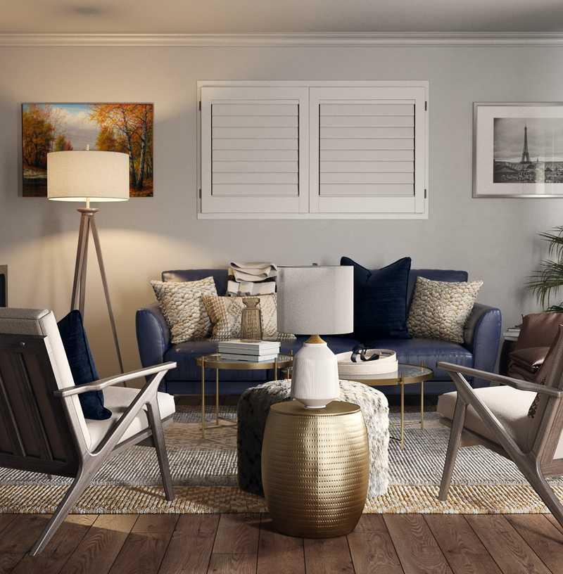 Modern, Traditional, Transitional Living Room Design by Havenly Interior Designer Eva