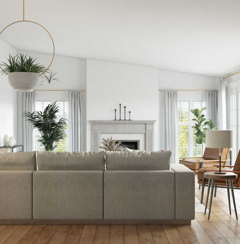 Modern, Minimal Living Room Design by Havenly Interior Designer Sarah