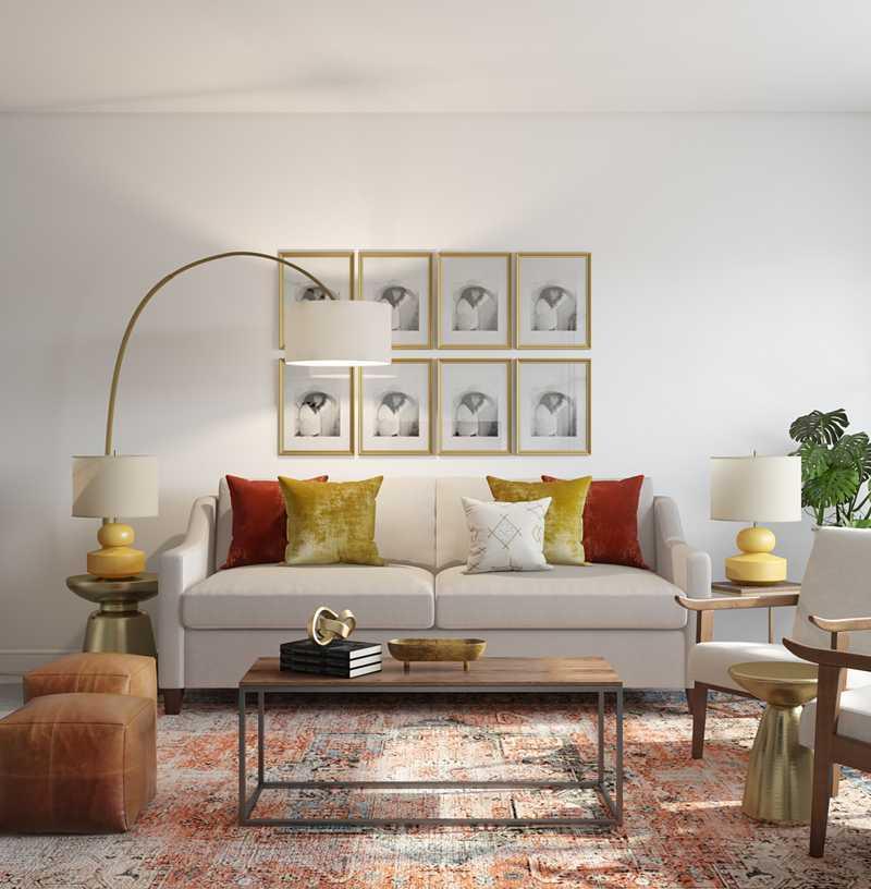 Midcentury Modern Living Room Design by Havenly Interior Designer Ghianella