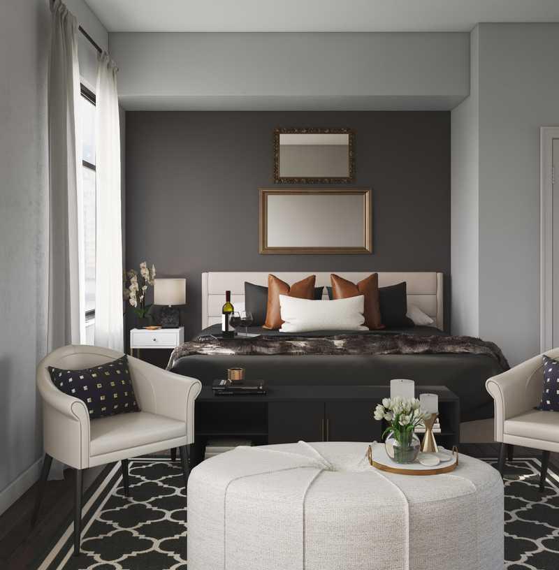 Contemporary, Modern, Glam, Minimal Living Room Design by Havenly Interior Designer Stacy