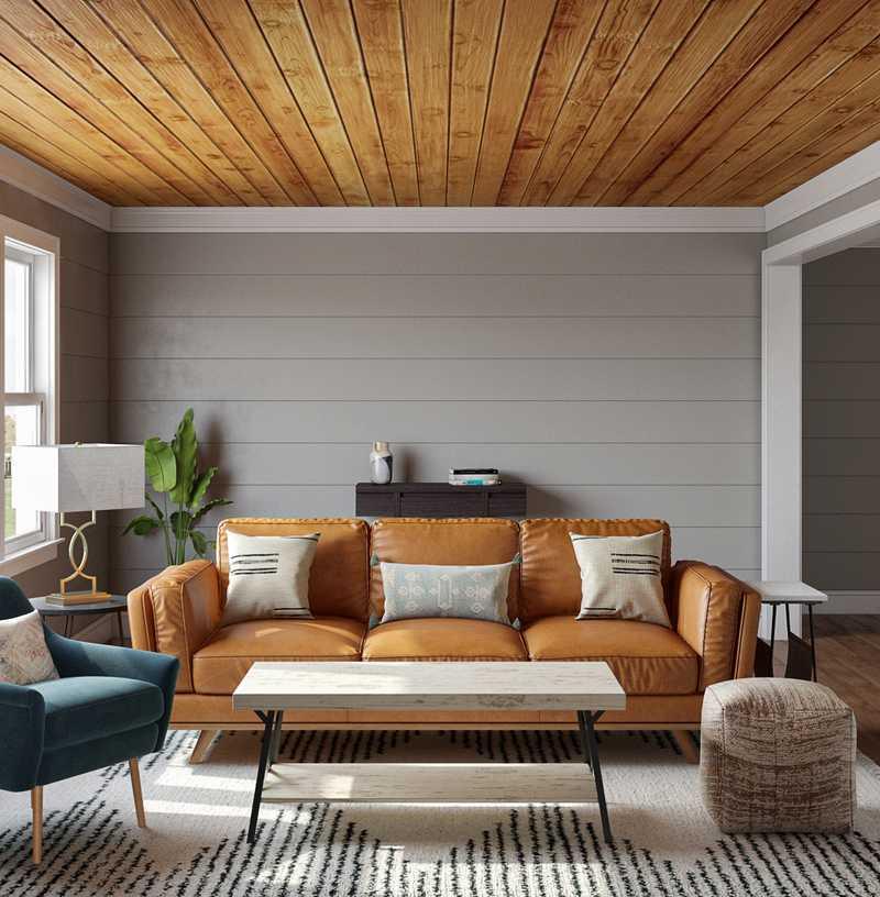 Eclectic, Midcentury Modern Living Room Design by Havenly Interior Designer Dani