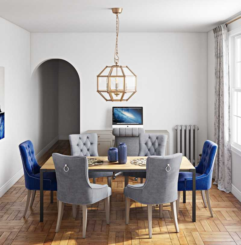 Contemporary, Glam Dining Room Design by Havenly Interior Designer Erin