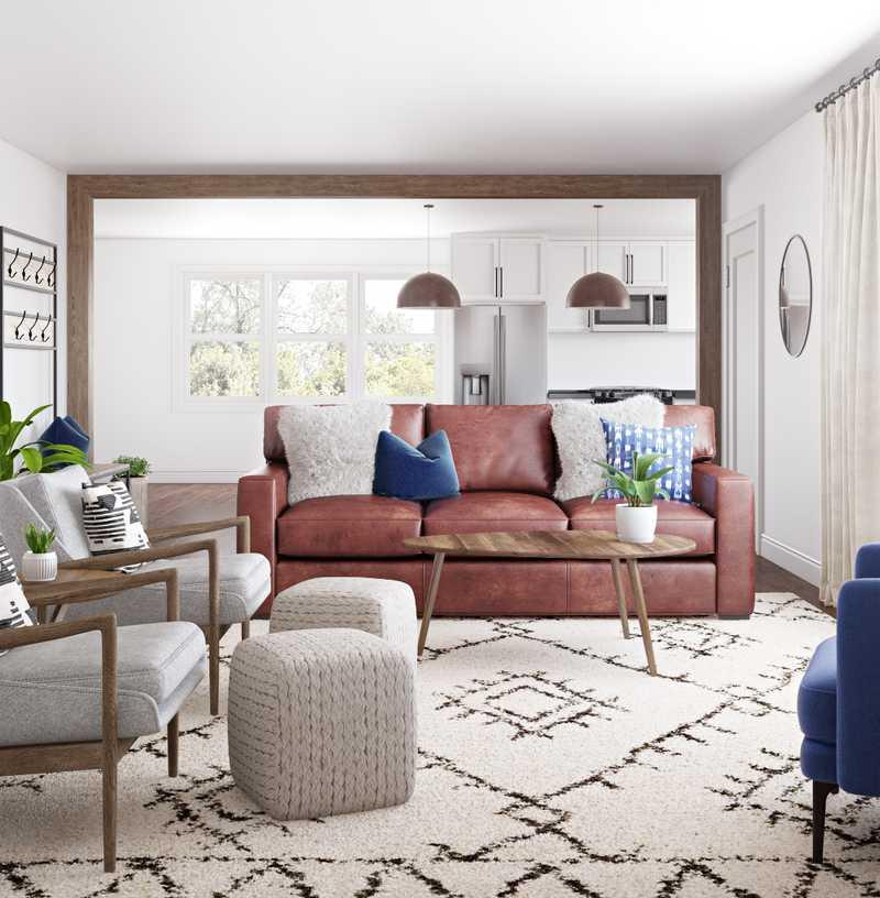 Modern, Bohemian, Midcentury Modern, Scandinavian Living Room Design by Havenly Interior Designer Natalie