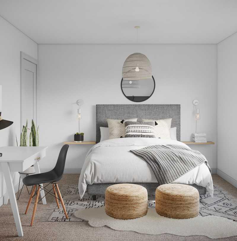 Modern, Bohemian, Scandinavian Bedroom Design by Havenly Interior Designer Carly