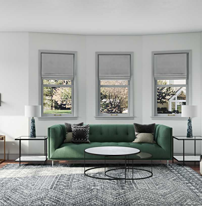 Eclectic, Midcentury Modern Living Room Design by Havenly Interior Designer Adrian