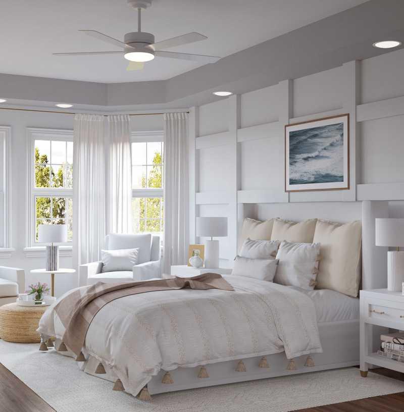 Coastal Bedroom Design by Havenly Interior Designer Kelsey