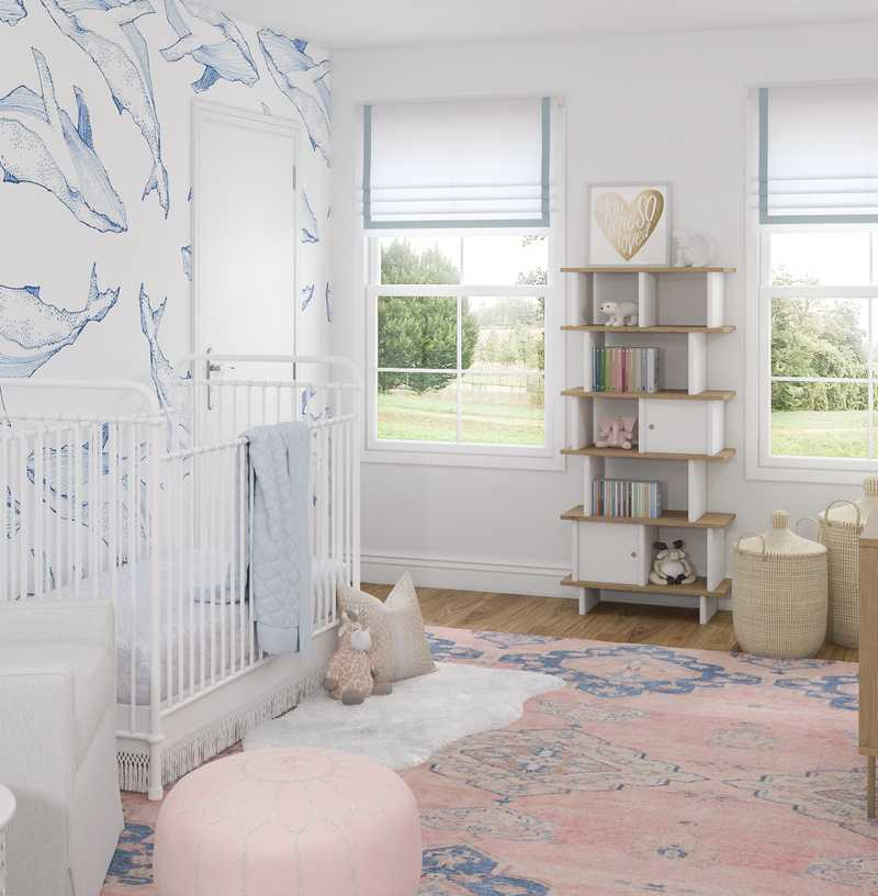 Classic, Coastal Nursery Design by Havenly Interior Designer Kelsey