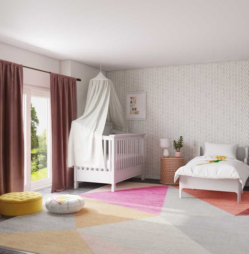 Modern, Eclectic, Bohemian, Scandinavian Nursery Design by Havenly Interior Designer Katerina