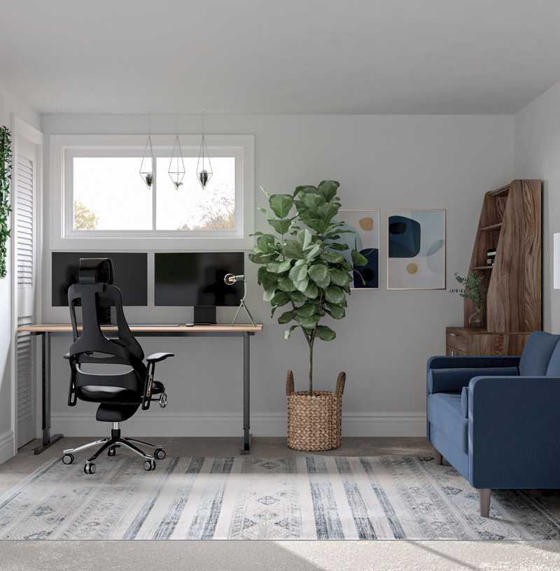 Modern, Midcentury Modern, Scandinavian Office Design by Havenly Interior Designer Regina