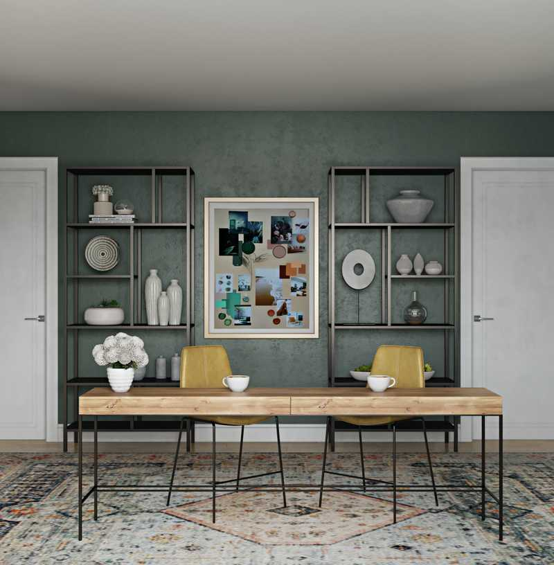 Bohemian, Transitional Office Design by Havenly Interior Designer Patricia