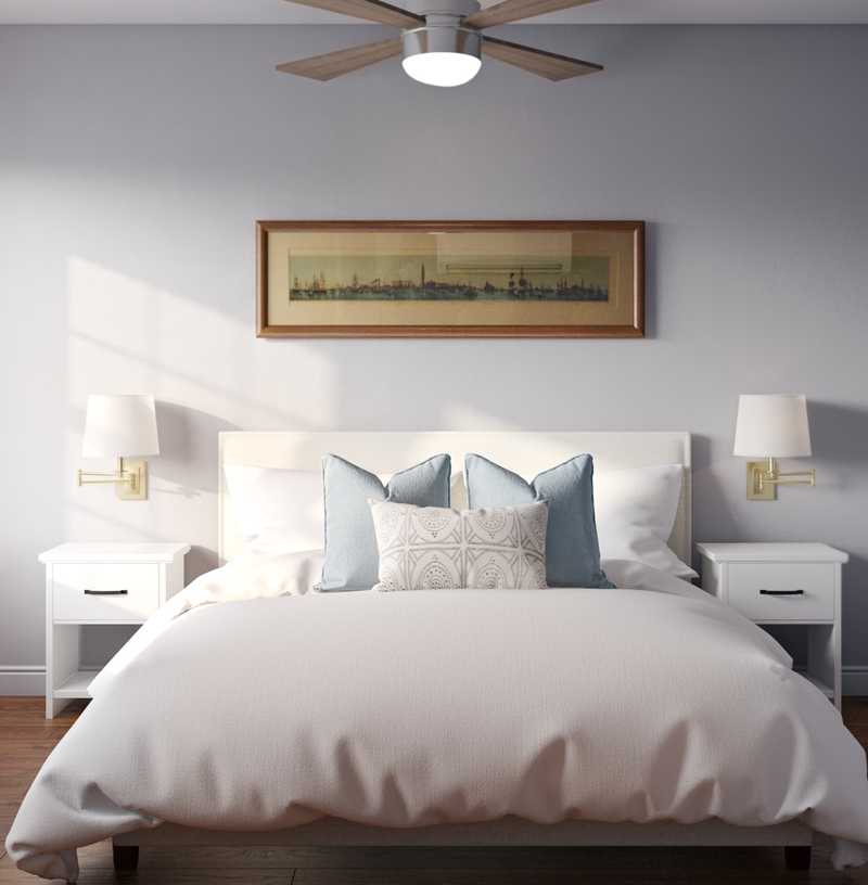 Contemporary, Classic, Coastal Bedroom Design by Havenly Interior Designer Kylie