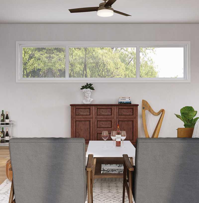 Midcentury Modern, Scandinavian Living Room Design by Havenly Interior Designer Carolyn
