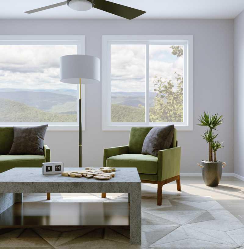 Contemporary, Transitional, Minimal Living Room Design by Havenly Interior Designer Jenna