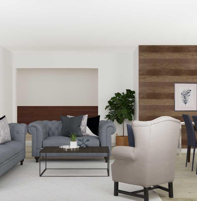 Contemporary, Glam Living Room Design by Havenly Interior Designer Karen