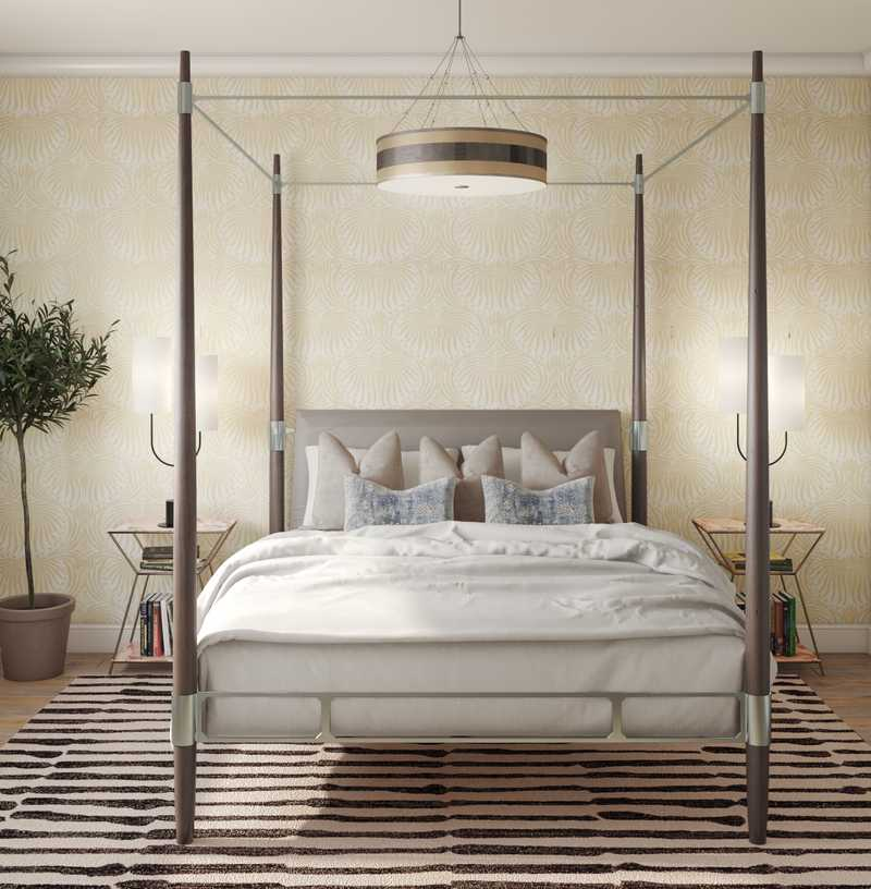 Contemporary, Eclectic Bedroom Design by Havenly Interior Designer Justin