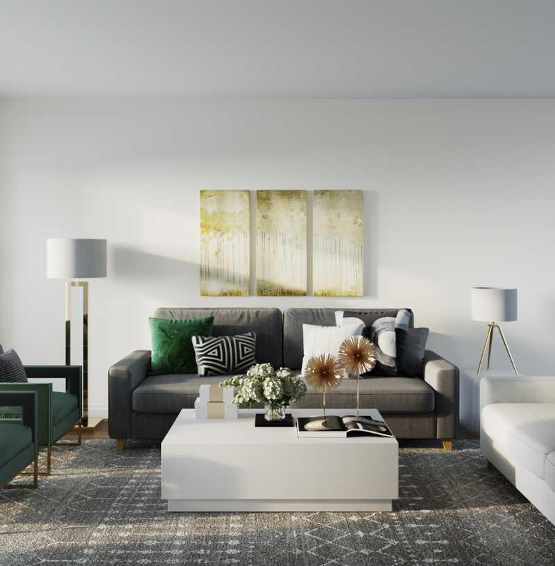 Glam Living Room Design by Havenly Interior Designer Michelle