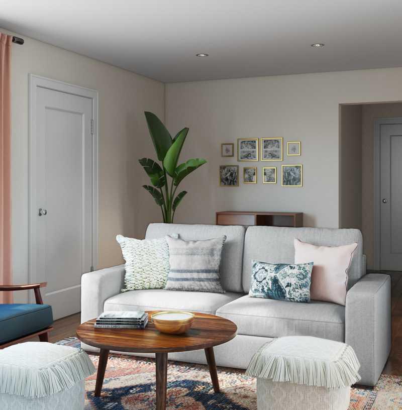 Modern, Bohemian Living Room Design by Havenly Interior Designer Matthew
