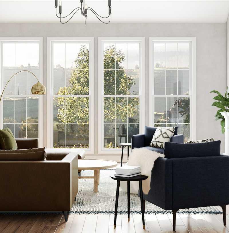 Modern, Bohemian, Glam, Traditional, Transitional, Global, Scandinavian Living Room Design by Havenly Interior Designer Brit