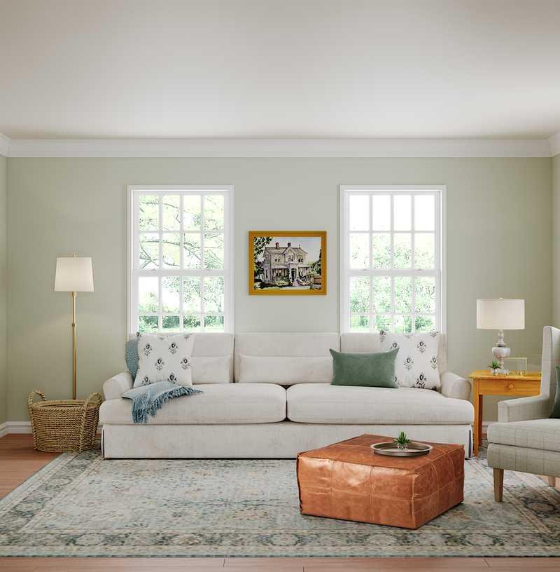 Classic, Farmhouse Living Room Design by Havenly Interior Designer Caroline