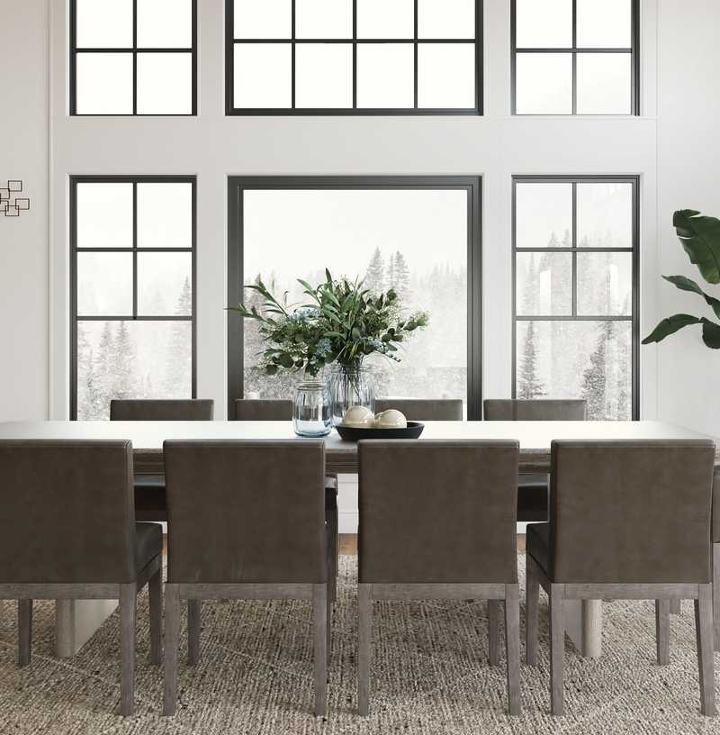 Contemporary, Modern, Classic, Classic Contemporary Dining Room Design by Havenly Interior Designer Karen