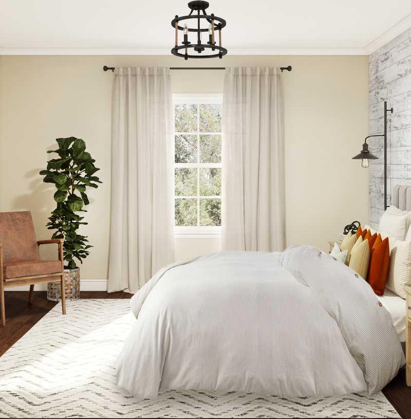 Industrial, Farmhouse, Rustic Bedroom Design by Havenly Interior Designer Dani