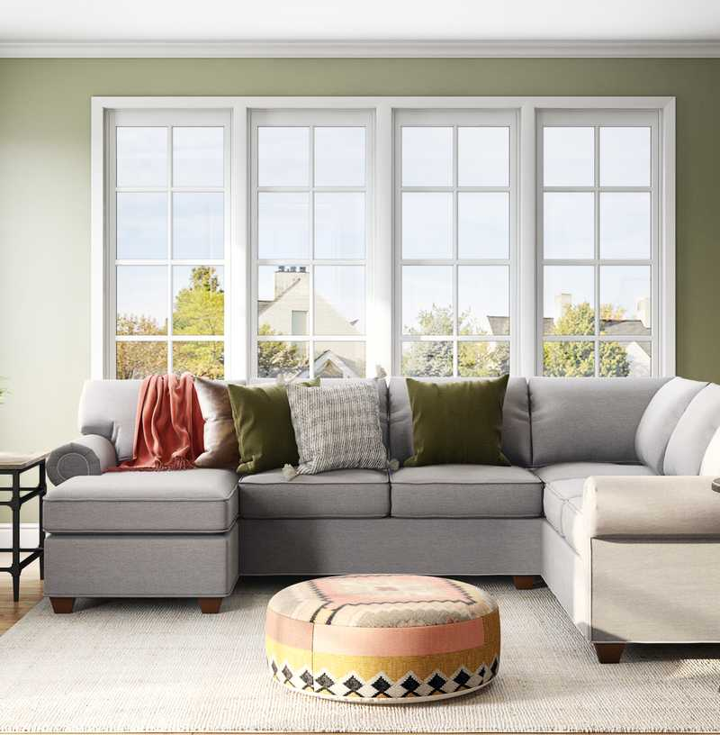 Classic, Traditional, Farmhouse Living Room Design by Havenly Interior Designer Sonia