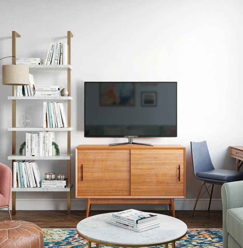 Modern, Eclectic, Bohemian Living Room Design by Havenly Interior Designer Eva