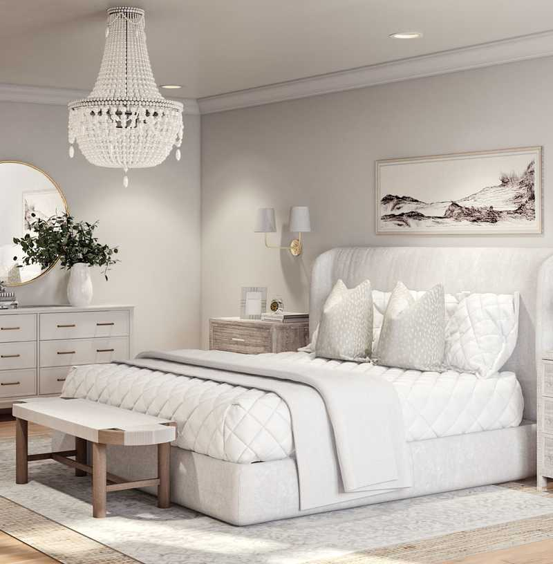 Classic, Coastal Bedroom Design by Havenly Interior Designer Kelsey