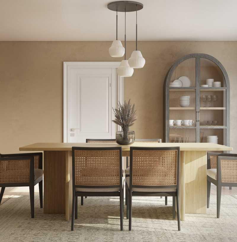 Modern, Bohemian, Scandinavian Dining Room Design by Havenly Interior Designer Gretchen