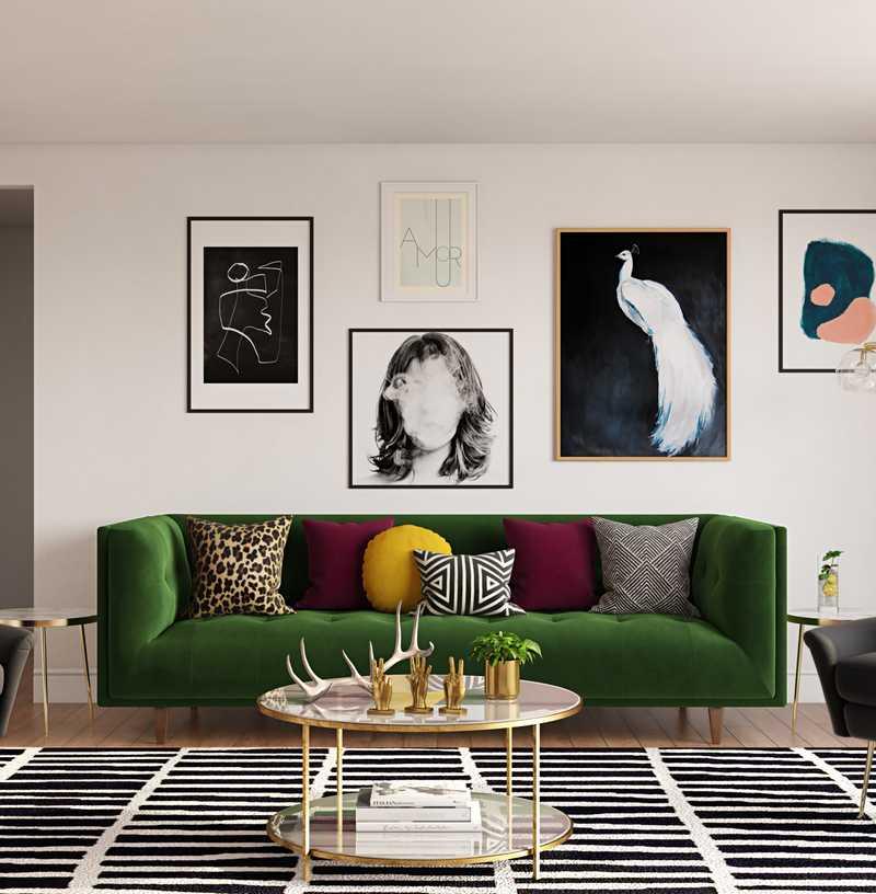 Modern, Glam Living Room Design by Havenly Interior Designer Brian