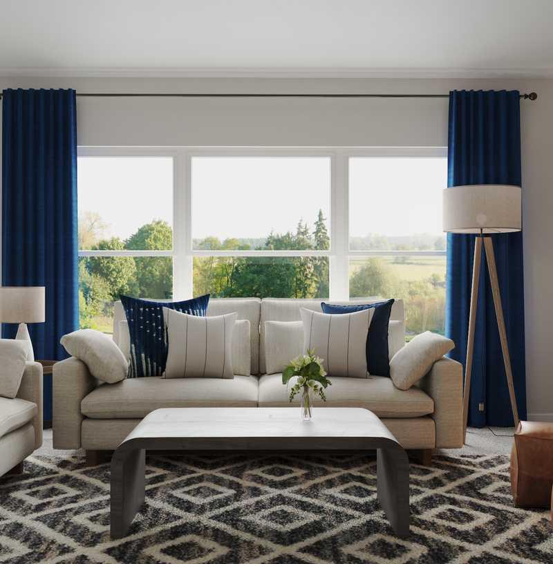 Contemporary, Eclectic, Bohemian, Farmhouse Living Room Design by Havenly Interior Designer Cristina