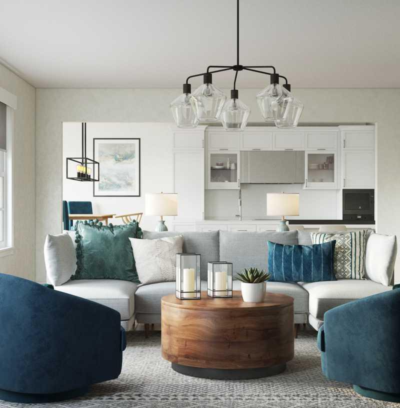 Modern Living Room Design by Havenly Interior Designer Fendy