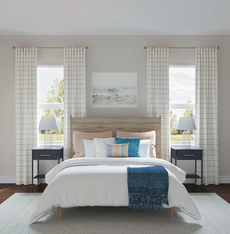 Eclectic, Bohemian, Midcentury Modern Bedroom Design by Havenly Interior Designer Nichole
