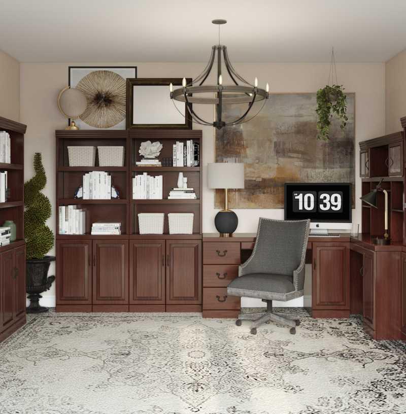 Modern, Industrial, Traditional Office Design by Havenly Interior Designer Arissa